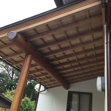 加古川市 外壁塗装 塗り替え工事 軒木部薬品洗浄 施工後
