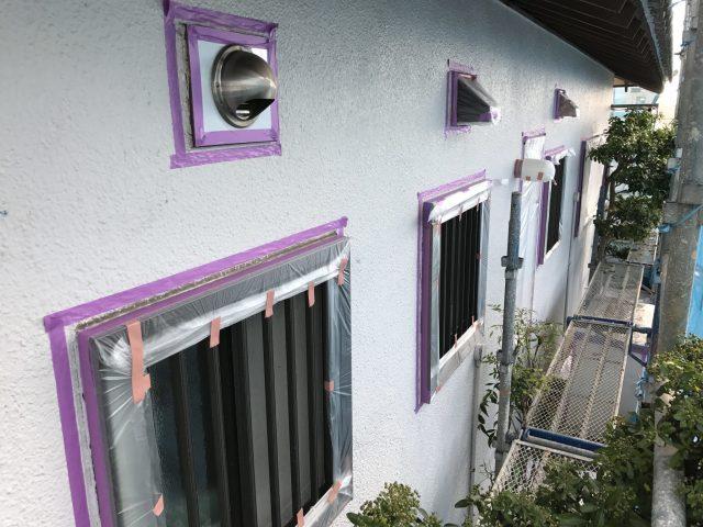 神戸市 外壁塗装 塗り替え工事 施工中