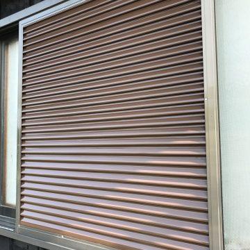 加古川市 外壁塗装 塗り替え工事 雨戸施工後