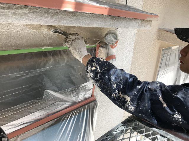 神戸市北区 外壁塗装 施工中風景